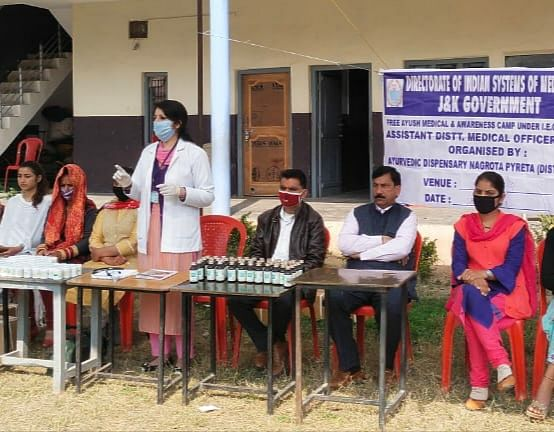 free-health-camp-organized-by-the-department-of-ayush-under-public-relations-campaign