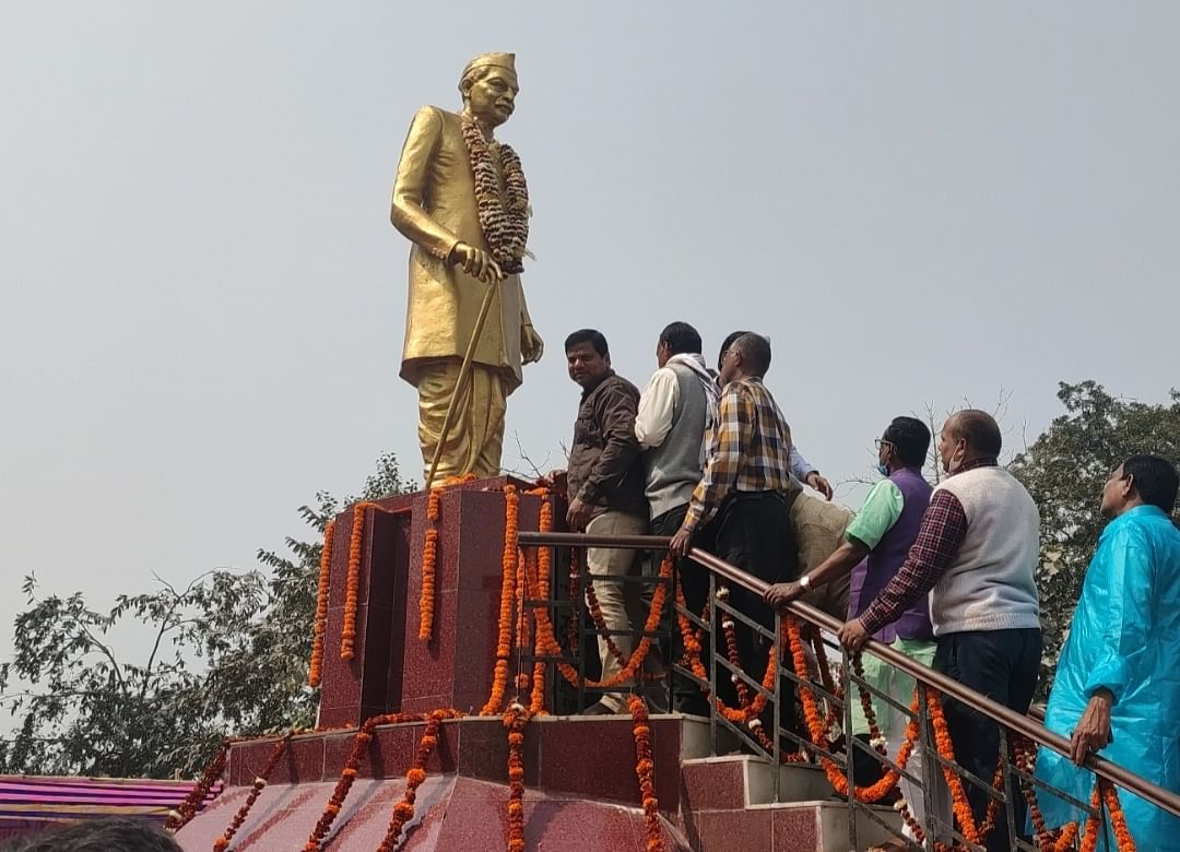 डॉ. राजेन्द्र प्रसाद की 58वीं पुण्यतिथि पर पुष्पांजलि अर्पित कर किये गए याद