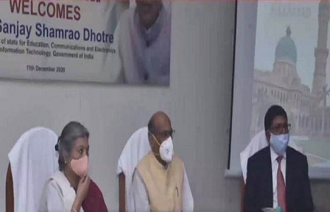 इविवि की नई वेबसाइट का कुलपति ने किया उद्घाटन