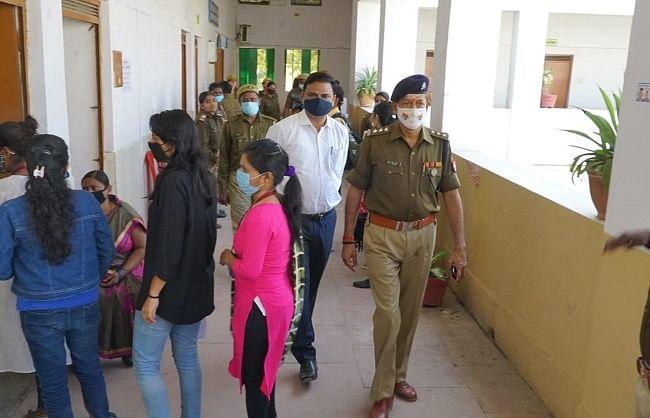 महात्मा गांधी काशी विद्यापीठ में कड़ी सुरक्षा के बीच छात्रसंघ चुनाव में मतदान