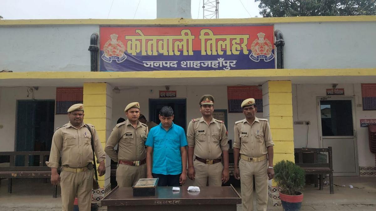 शाहजहांपुर में 40 लाख की स्मैक के साथ एक तस्कर गिरफ्तार