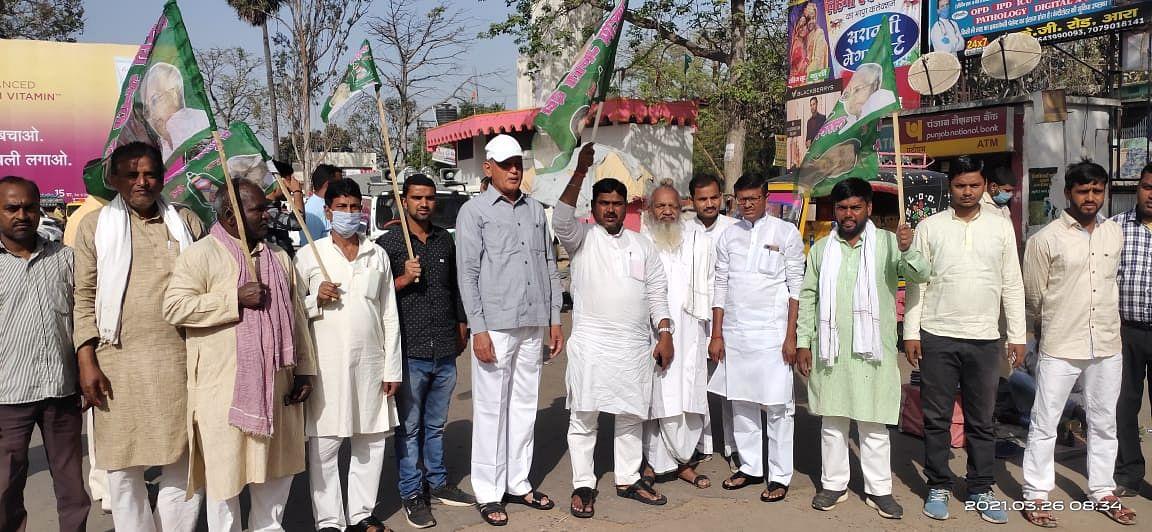 भोजपुर में बिहार बन्द का मिलाजुला असर