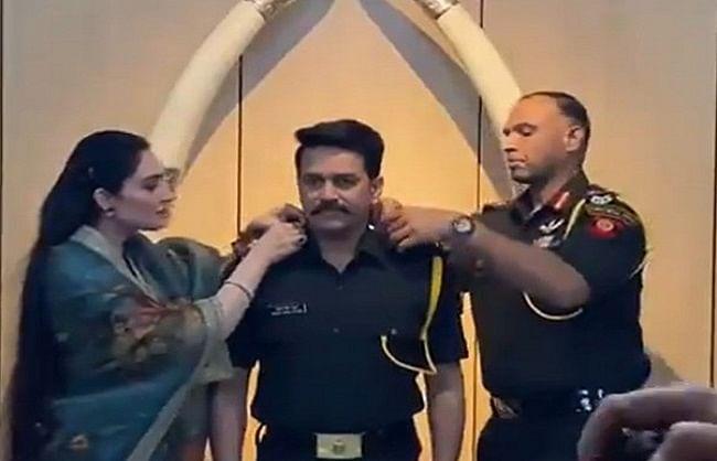 केन्द्रीय वित्त राज्यमंत्री अनुराग ठाकुर टेरिटोरियल आर्मी में बने कैप्टन