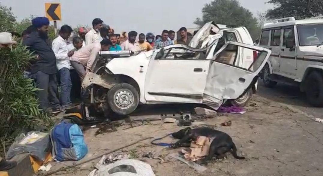 चार पहिया वाहन डिवाइडर से टकराई दो युवकों की मौत