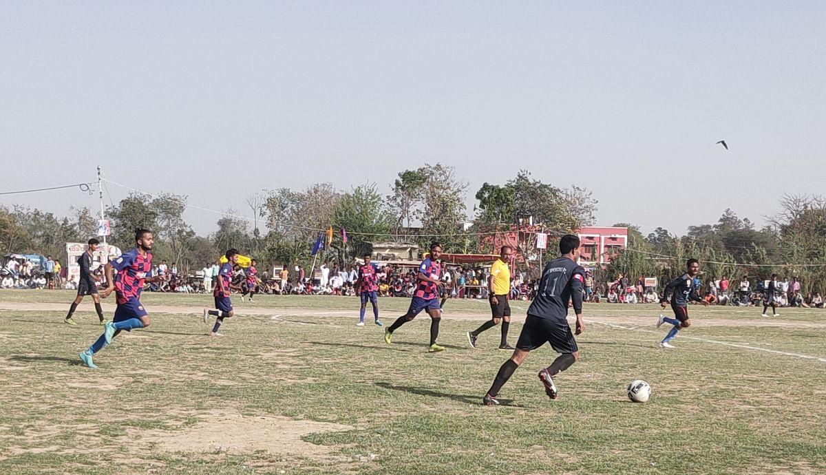 राज्यस्तरीय फुटबॉल टूर्नामेंट का हुआ शुभारंभ, गोंडा व गौरीफंटा टीम ने दर्ज की जीत