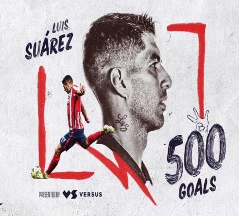 एटलेटिको मैड्रिड के स्टार फुटबॉलर लुइस सुआरेज़ ने पूरे किए अपने करियर के 500 गोल
