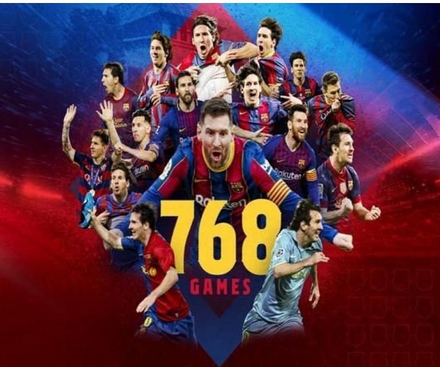बार्सिलोना के लिए सर्वाधिक मैच खेलने वाले फुटबॉलर बने मेसी,ज़ावी के रिकॉर्ड को तोड़ा