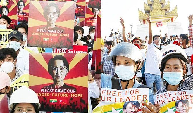 प्रदर्शनकारियों पर बर्बर कार्रवाई के जिम्मेदार म्यांमार के अधिकारियों पर EU लगाएगा पाबंदी