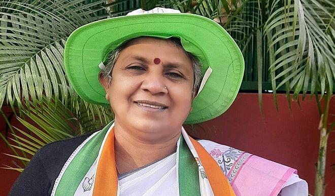 केरल चुनाव: कांग्रेस को लगा एक और झटका, मुंडन कराने के एक दिन बाद लतिका सुभाष ने छोड़ी पार्टी
