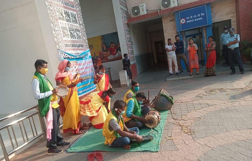 नमामि गंगे योजना के तहत हुआ नुक्कड़ नाटक का आयोजन