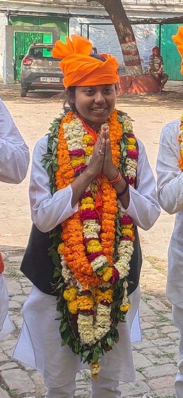 हरिश्चन्द्र पीजी कॉलेज छात्रसंघ चुनाव में अध्यक्ष पर विद्यार्थी परिषद की हर्षिता गुप्ता जीतीं