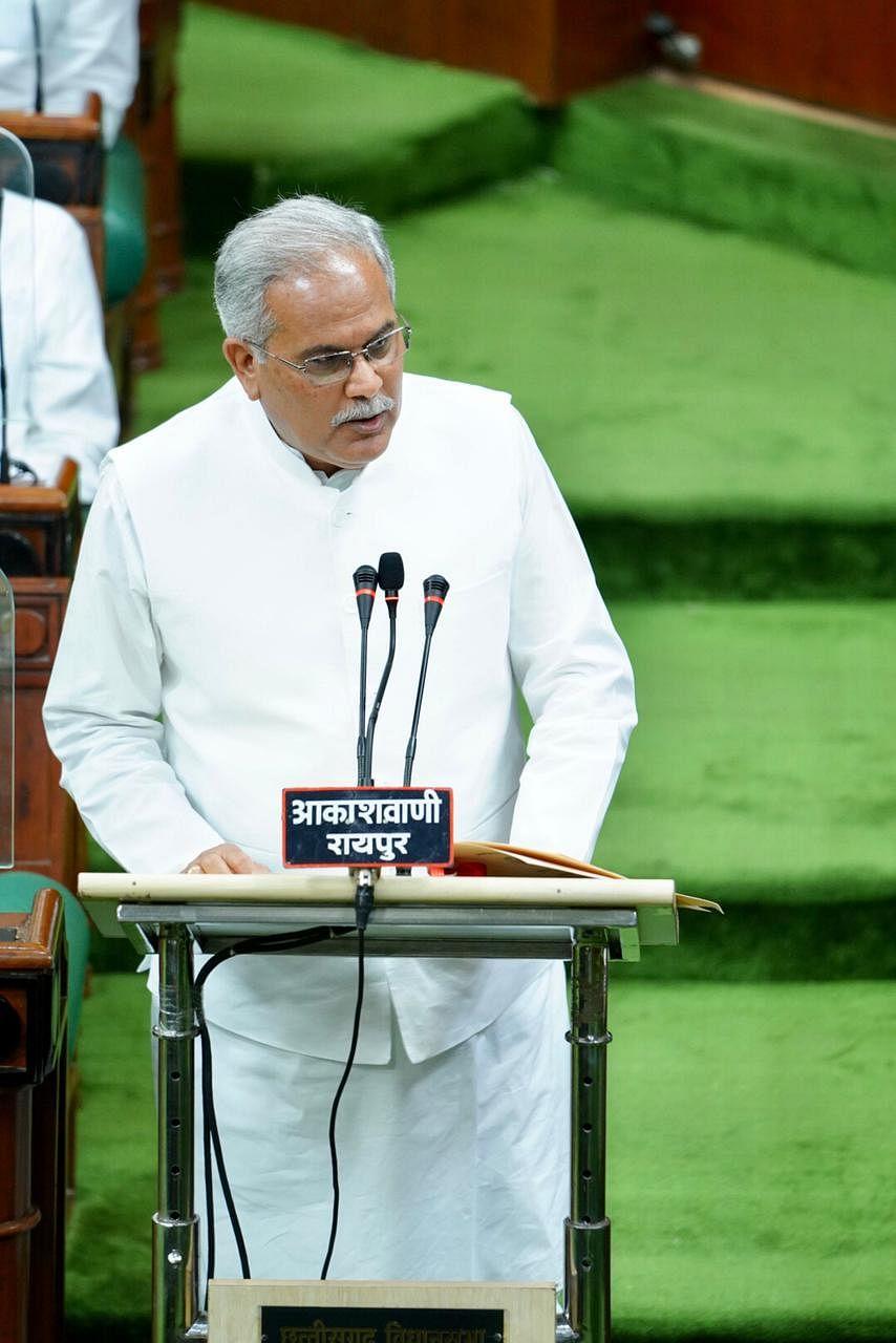 """छत्तीसगढ़ विधानसभा : मुख्यमंत्री भूपेश ने """"गढ़बो नवा छत्तीसगढ़"""" के मूलमंत्र की अवधारणा पर पेश किया बजट"""