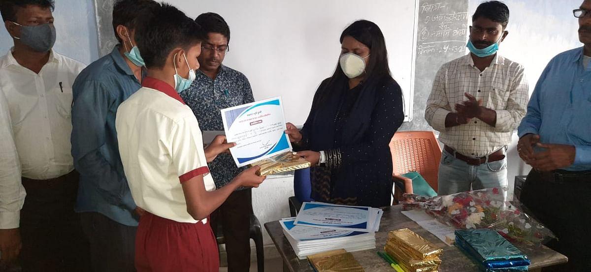 नमामि गंगे के तहत हुईं प्रतियोगिताएं, विजेता पुरस्कृत