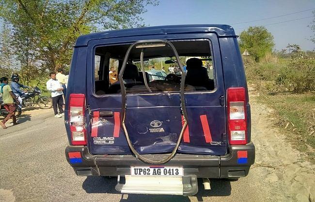 थानाध्यक्ष की सरकारी गाड़ी में ट्रक ने मारी टक्कर, कई पुलिसकर्मी घायल