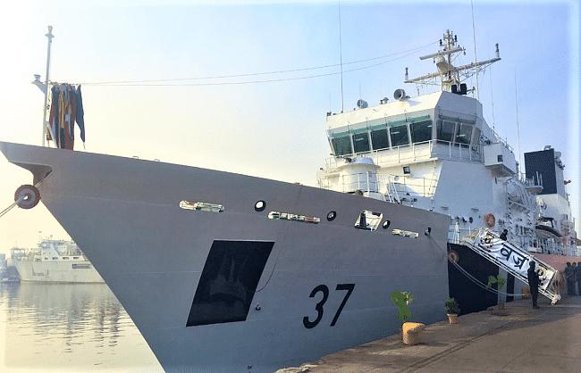 स्वदेशी तटरक्षक जहाज 'वज्र' राष्ट्र को समर्पित
