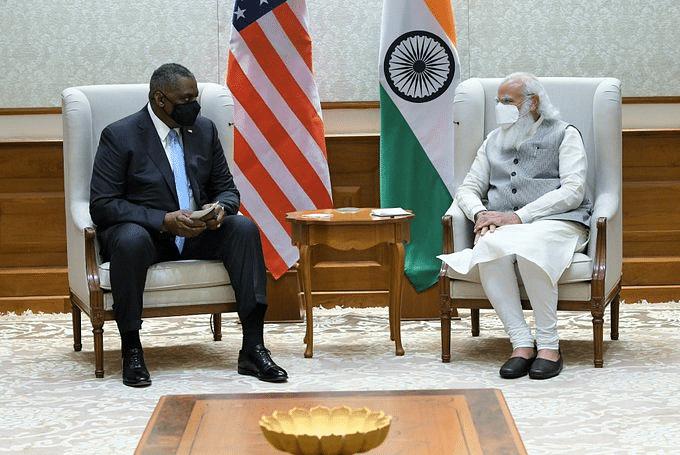 प्रधानमंत्री मोदी से मिले अमेरिकी रक्षामंत्री ऑस्टिन