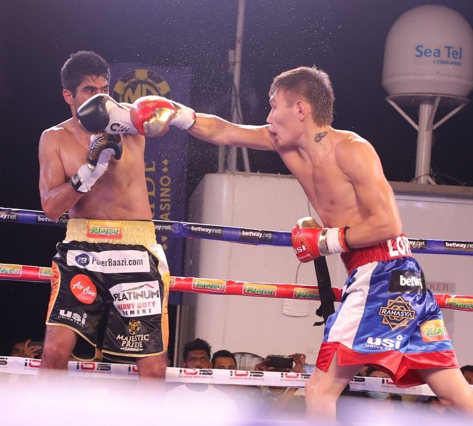 पेशेवर मुक्केबाज विजेंदर सिंह का लगातार 12 मैचों से चला आ रहा अजेय क्रम टूटा, रूस के अर्टिश लोपसन ने हराया