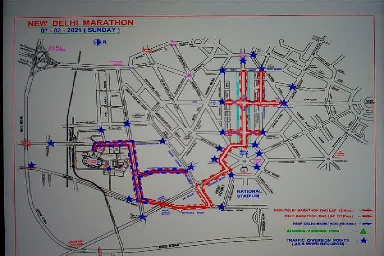 रविवार को आयोजित होगी नई दिल्ली मैराथन, इन रास्तों से बचकर चलें