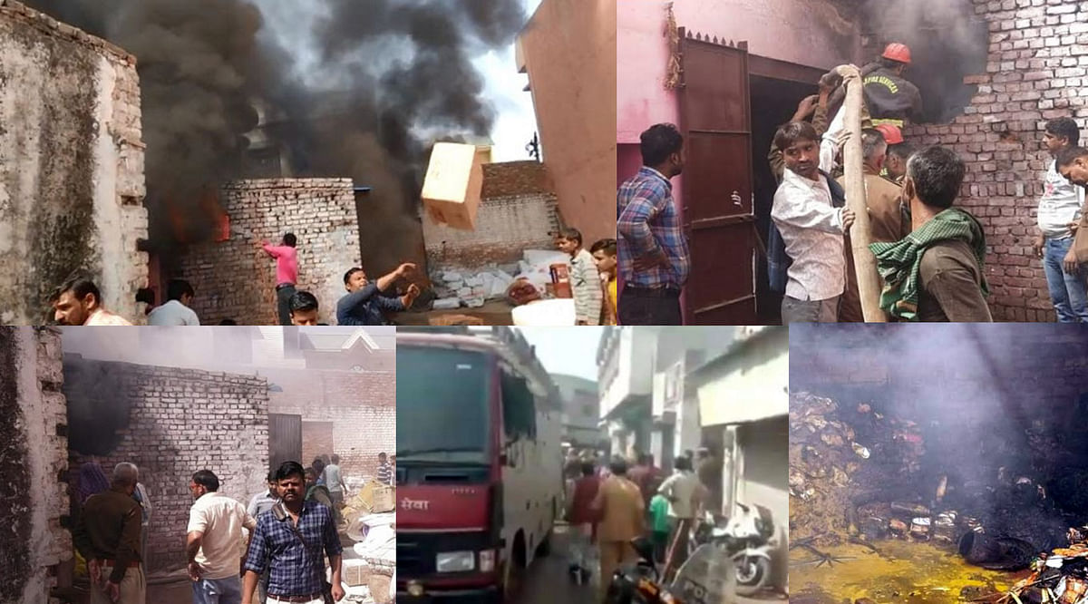mathura-a-sudden-fire-broke-out-in-the-warehouse-of-the-transporter-company-the-whole-thing-burnt-to-ashes