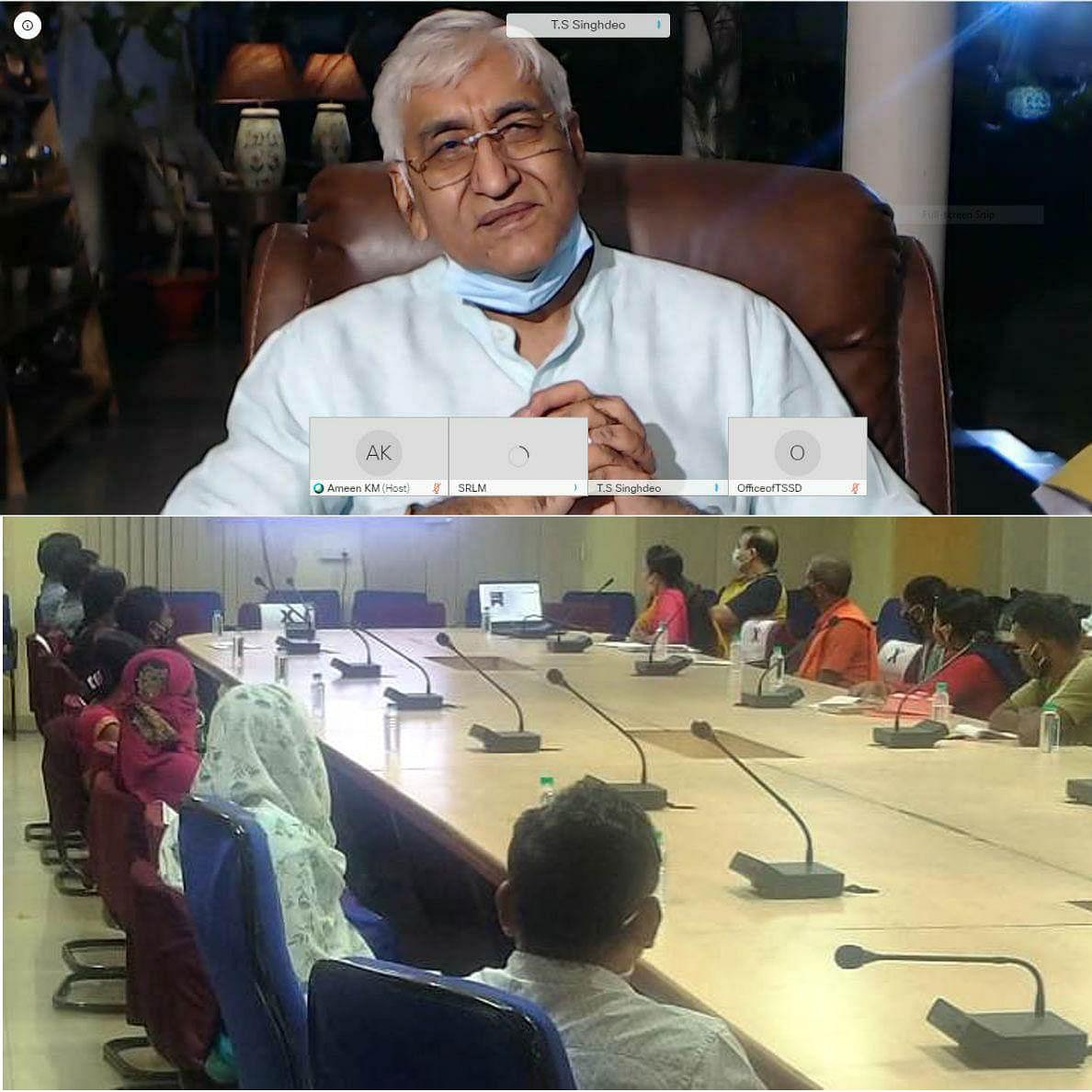 रायपुर : मंत्री सिंहदेव ने गौठानों के अध्ययन भ्रमण पर आए दल से की चर्चा