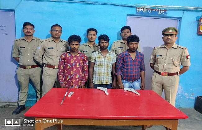 शाहजहांपुर : लूट की योजना बना रहे तीन शातिर लूटेरे पुलिस मुठभेड़ में गिरफ्तार