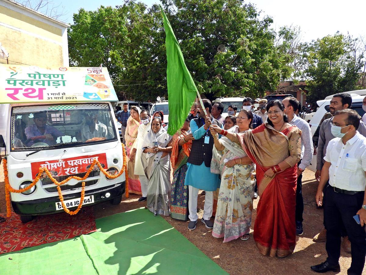 रायपुर : समाज के विकास में महिलाओं की भागीदारी महत्वपूर्ण :  अनिला भेंडिया