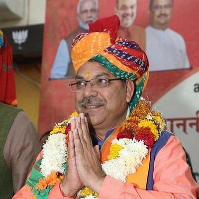 भाजपा प्रदेशाध्यक्ष ने किए सांवलिया सेठ के दर्शन, व्यापारियों ने गेट खोलने की मांग पर की नारेबाजी