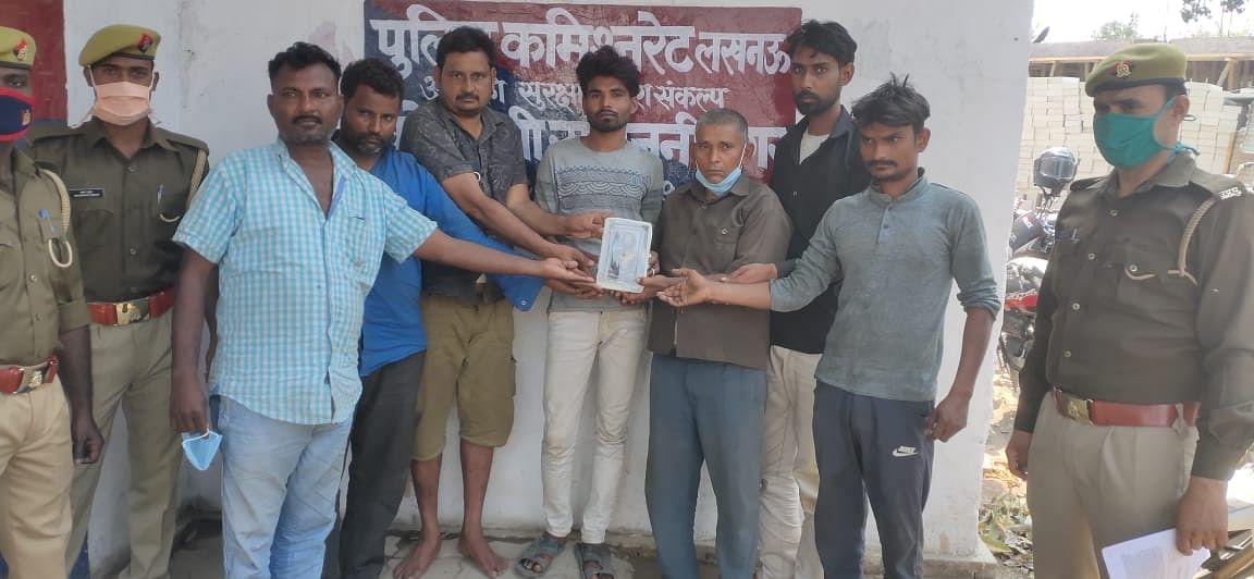 करोड़ों की अष्टधातु की मूर्ति के साथ सात तस्कर गिरफ्तार