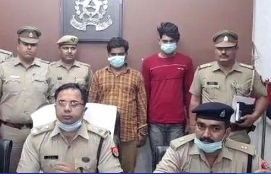 मथुरा: हाइवे पर लूट की घटनाओं को अंजाम देने वाले दो शातिर गिरफ्तार, स्कार्पियो बरामद