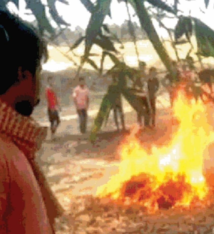 भोजपुर में मॉब लिंचिंग :बुजुर्ग की हत्या करने वाले विक्षिप्त को उग्र भीड़ ने जिंदा जलाया