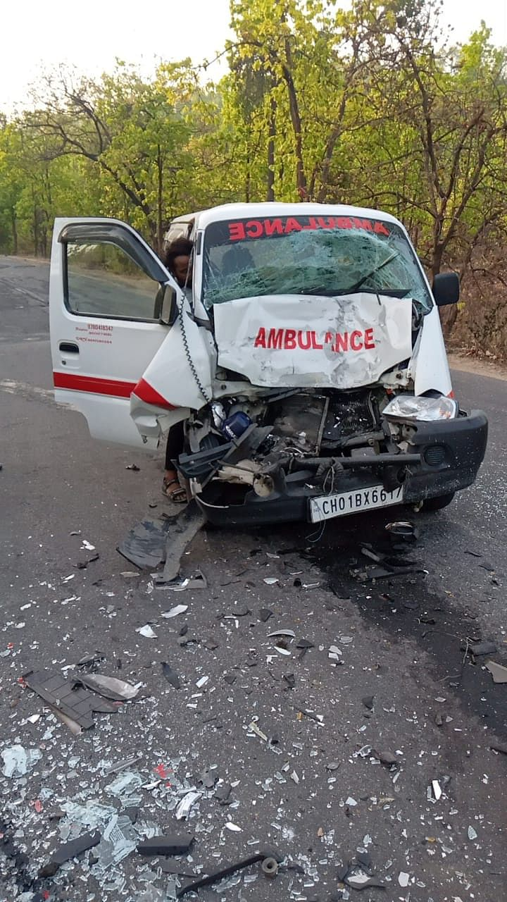 truck-collides-with-ambulance-driver-trapped-in-ambulance-for-one-hour