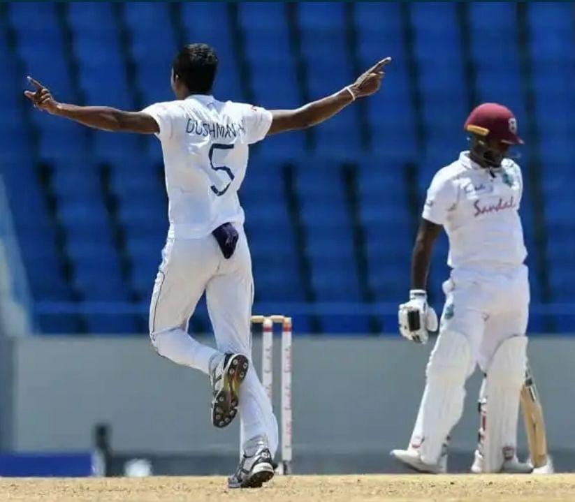 एंटीगुआ टेस्ट : वेस्टइंडीज ने श्रीलंका के सामने रखा 377 रनों का लक्ष्य,ब्रैथवेट मायर्स और होल्डर का अर्धशतक
