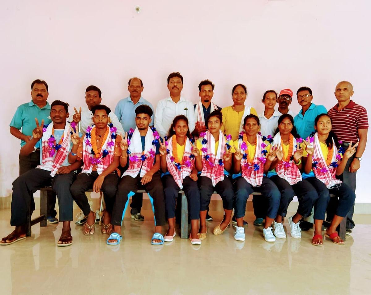 राष्ट्रीय सब जूनियर हॉकी प्रतियोगिता के विजेता खिलाड़ियों को किया गया सम्मानित