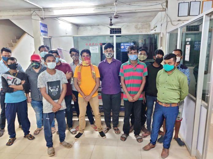 जगदलपुर : कर्फ्यू का उल्लंघन करते हुए घूमने वाले 17 युवकों पर हुई कार्रवाई