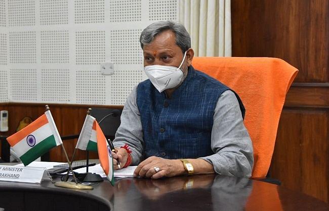 मुख्यमंत्री तीरथ ने वैक्सीनेशन और टेस्टिंग बढ़ाने पर दिया जोर