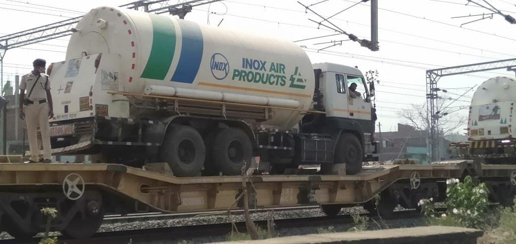 बोकारो से मंडीदीप पहुंची 'प्राणवायु' वाली ट्रेन, सुगमता से मिलेगी आक्सीजन