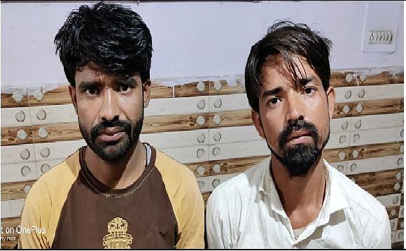 पुलिस मुठभेड़ में दो अभियुक्त गिरफ्तार