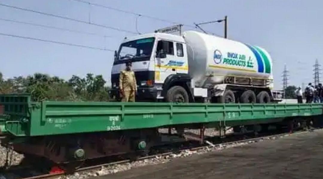 पालघर : रेलवे ने बोईसर में ऑक्सीजन एक्सप्रेस का किया ट्रॉयल