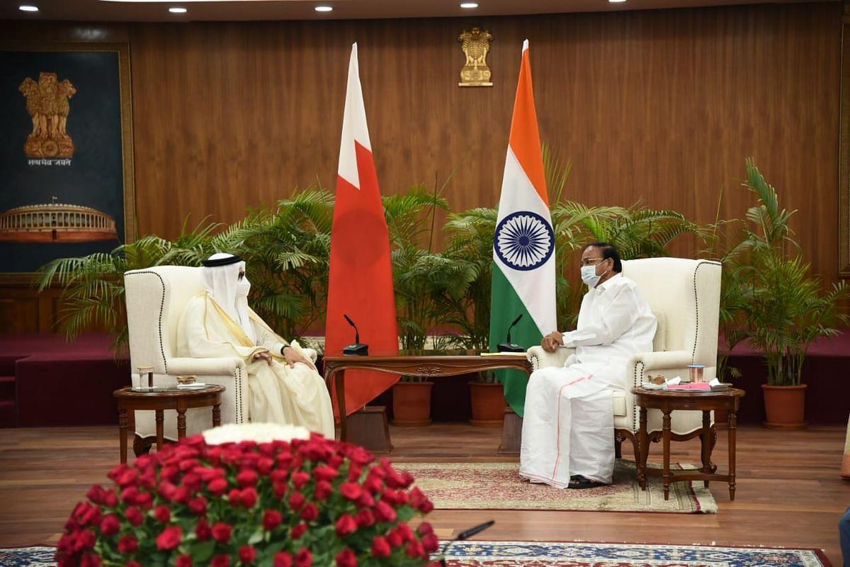 बहरीन के विदेश मंत्री अब्दुल्लातिफ ने उपराष्ट्रपति वेंकैया से मुलाकात की