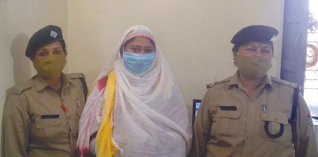 पुलिस ने 15 लाख की स्मैक के साथ महिला को पकड़ा