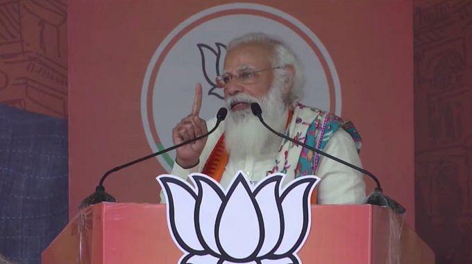 बंगाल में बोले प्रधानमंत्री- गांधी जी ने यहां खादी आश्रम खोला, टीएमसी वालों ने कब्जा कर लिया
