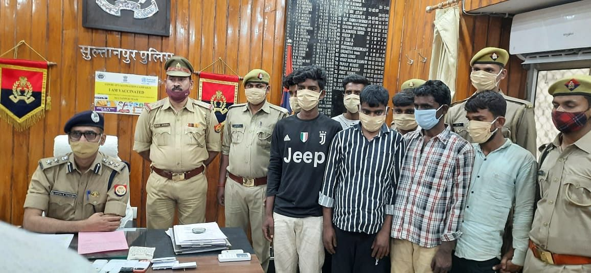 sultanpur-seven-accused-of-cow-slaughter-arrested-jailed
