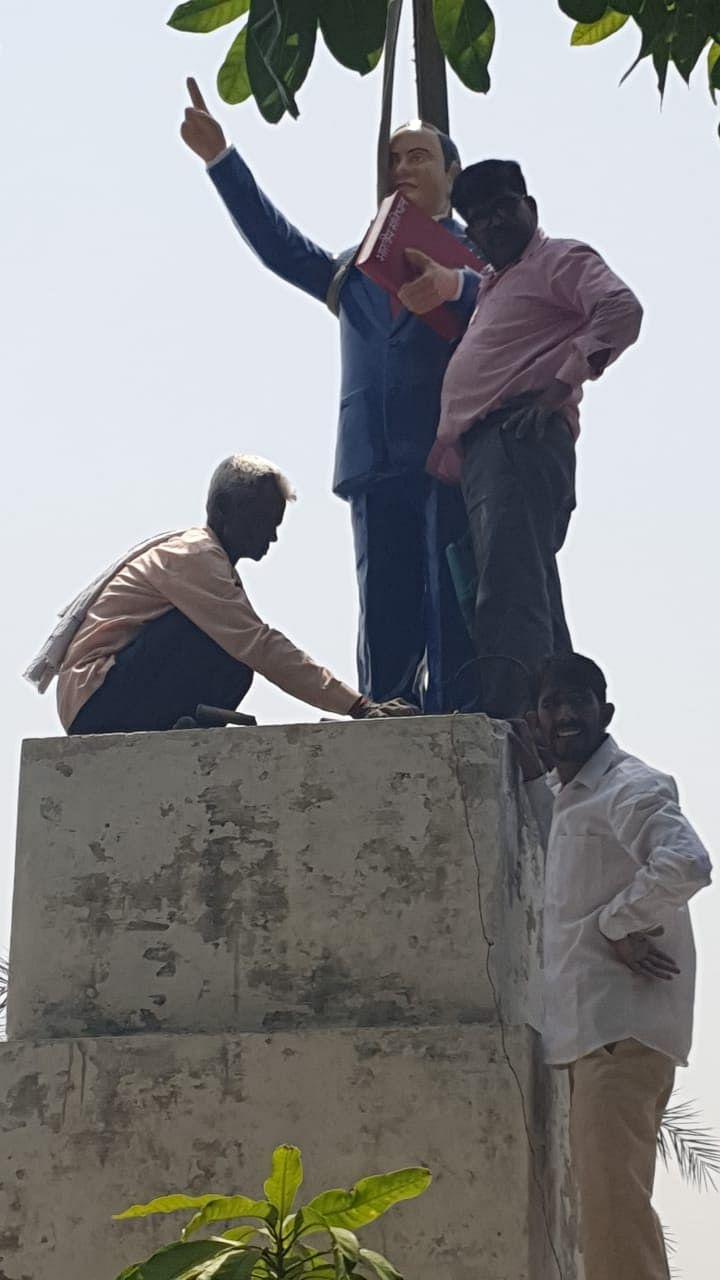डॉ. भीमराव अम्बेडकर की प्रतिमा को पहुंचाई क्षति, पुलिस ने शुरू की जांच