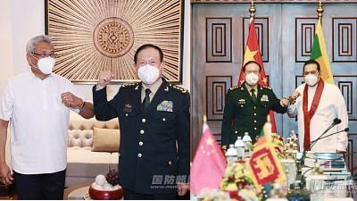 sri-lankan-president-and-prime-minister-meet-chinese-defense-minister