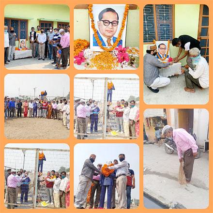 भाजपा कार्यकर्ताओं ने विभिन्न बूथों पर मनाई आंबेडकर जयंती
