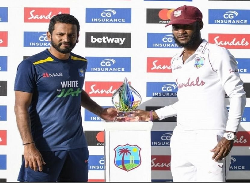वेस्टइंडीज और श्रीलंका के बीच खेला गया दूसरा टेस्ट मैच बिना किसी नतीजे के समाप्त