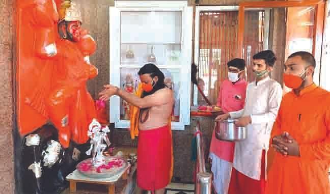 श्रीबालाजी जन्मोत्सव पर रुद्राभिषेक कर कोरोना मुक्ति की कामना की