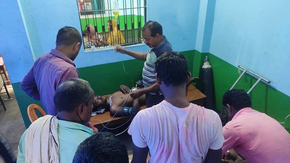 हाई वोल्टेज बिजली तार की चपेट में आने से चार बच्चे झुलसे
