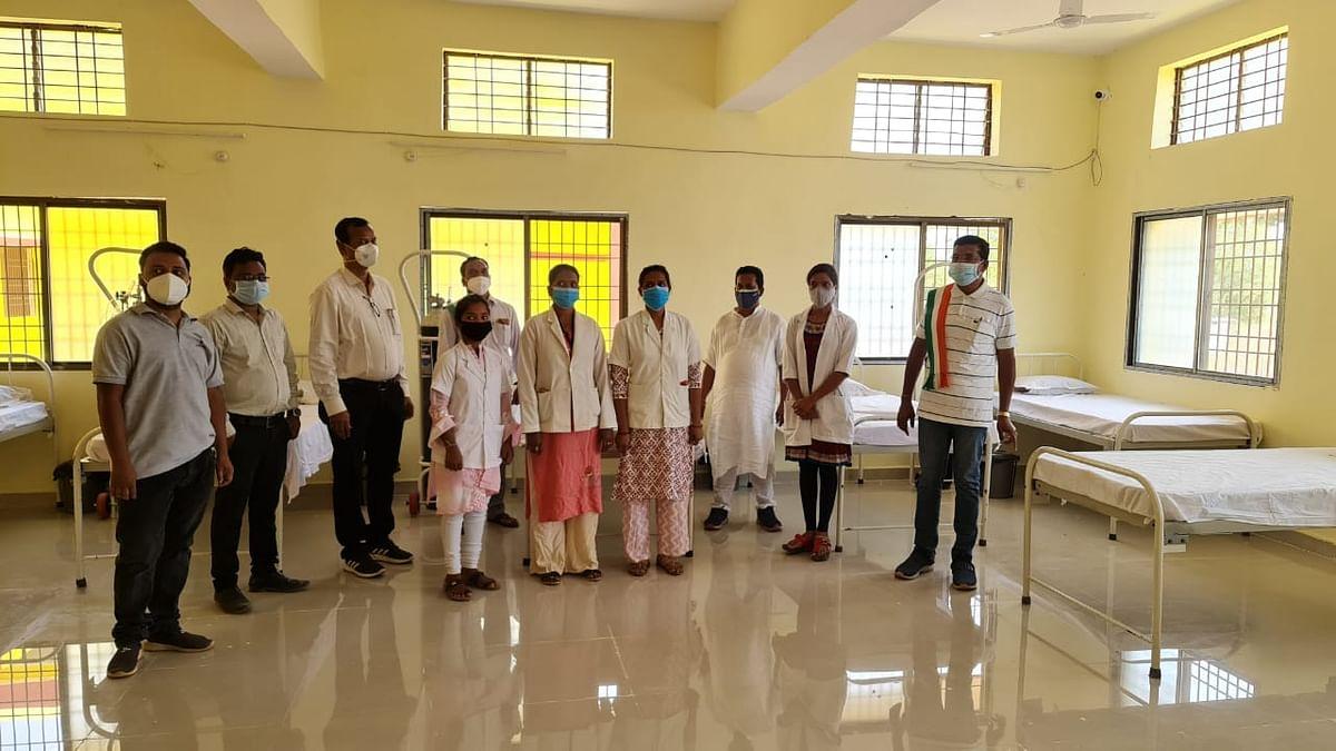 विधायक मोहन मरकाम ने 100 बिस्तरों वाले कोविड केयर सेंटर का किया शुभारंभ