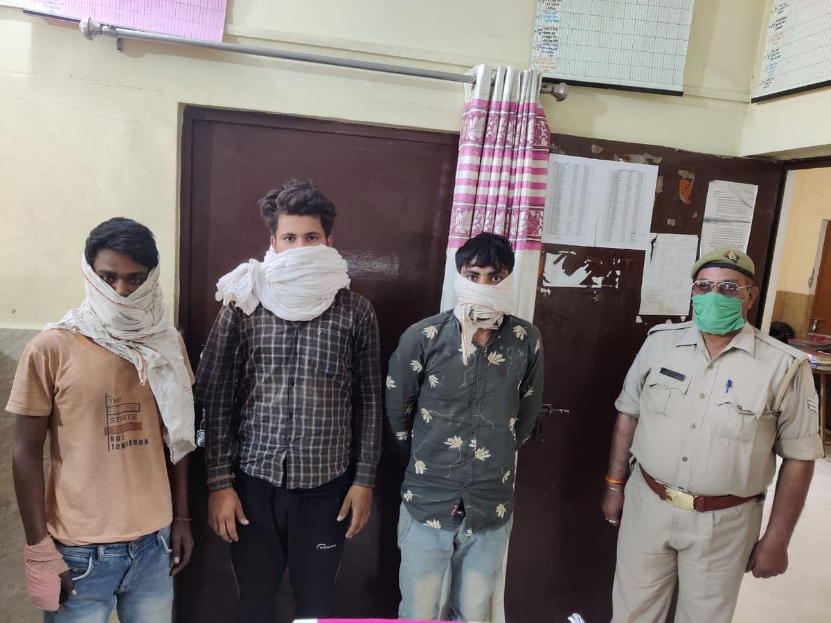 कपड़ा व्यापारी से मांगी 20 लाख की रंगदारी, तीन गिरफ्तार
